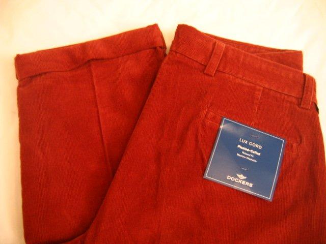 NWT Men's Dockers Corduroy Pants Sz 36x30