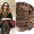 Leopard Animal Print Shawl Cheetah Muslin Scarf Wrap Stole