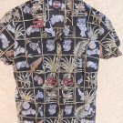 Harley Davidson S Small Shirt Motorcycle Print Tropical Women New