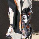 Phillip Lim Zip Front Floral Vest Size L New