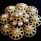 Aurora Borealis Rhinestone Brooch Unsigned Vintage Jewelry