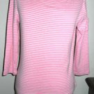 Ralph Lauren T Shirt Size M Pink White Striped Green Label New No Store Tags
