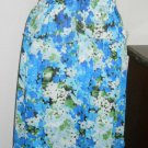 Strapless Dress Size M Blue Green Floral Flowers Legendary Couture New With Tags