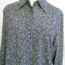 Jones New York Size 6 Shirt Floral Black Beige Career Top Long Sleeves Top New