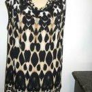 Calvin Klein Size L Tank Top Brown Black Animal Print Sleeveless New w/o Tags