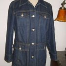 Isaac Mizrahi M Blue Denim Jean Jacket Long Sleeves Cotton New Casual Apparel