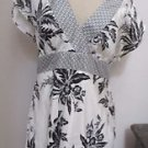 White House Black Market M Floral Silk Blouse Cap Sleeves Top New with Tags