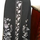 Silkland Skirt 6 Black White Floral Embroidery Gorgeous Church Performance Show