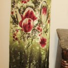Citron Santa Monica Sun Dress Size S Silk Floral Burgundy Olive Tank Style New