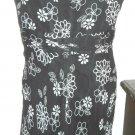 Silk Dress Size 14 Nine West Black Beige Floral Sleeveless Feather Light New