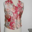 Talbots Silk Top Size 4 Red Cream Orange Floral New Faux Wrap Blouse New w Tag