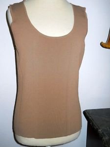 Doncaster Collection Size M Sweater Tank Style Top Career Cinnamon Brown New