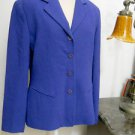 Emanuel Ungaro Blazer Size 6 Periwinkle Purple Color Rayon Wool Excellent Used