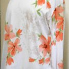 Made in Heaven Blouse Size XL Orange Lillies Flowers Long Sleeves Polyester New
