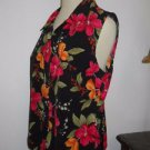 Kathy Ireland M Career Tank Top Floral Polyester Easy Care Excellent Used EUC