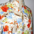 Coldwater Creek Jacket Size 14 Career Floral Thick Cotton Fabric Large L New