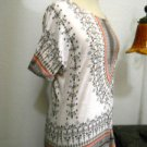 Cocomo Size S Floral Knit Top Cream Taupe Orange Embellished Blouse Great Used