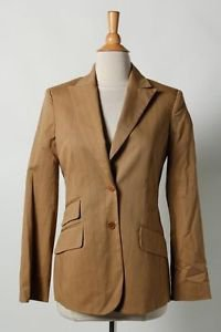 BCBG Max Azria Blazer Size 12 Brown Striped Thick Cotton Spandex New Price Tag