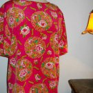Dana Buchman Silk Top and Blazer Size 12 Pink Multi Floral New Matching Set