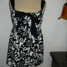 Ann Taylor LOFT XS Black White Floral Cotton Tank Cami Sleeveless Top New Tags