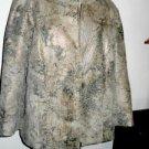 Christopher & Banks Jacket Size PXL Petite Bronze Metallic Animal Print New