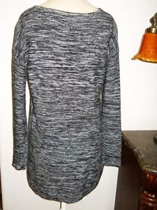 Ellen Tracy XL Pullover Sweater Career Long Sleeves Black Heather New w/out Tags
