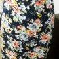 Ralph Lauren Silk Skirt Size 12 Career Navy Pink Floral A Line Ankle Long New