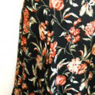 Jones New York Skirt Size 16 Wool Rayon Floral Mid-Calf Black Multi New NWOT