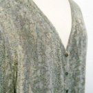Chico's 3 Cardigan XL Animal Print Career Top Lizard Abalone Shell Buttons New
