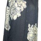 Linda Allard Ellen Tracy Silk Shirt Top Size 10 Floral Polka Dot Top New No Tags