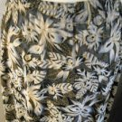 Carole Little Skirt L Black Brown Floral Maxi Career Burneout Fabric Pretty New