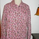 Diane Gilman DG2 Jacket Size M Career Pink Floral Cotton Blend Fabric Not Lined