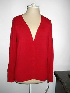 Rafaella Petites Cardigan Size P Wine Red Soft Knit Long Sl Sweater New w Tags