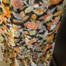 Dana Buchman Silk Skirt Size 12 Earth Colors Career Floral Hi Low A Line New