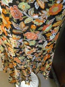 Dana Buchman Silk Skirt Size 12 Earth Colors Career Floral Hi Low A Line New