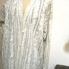 Adrienne Vittadini Cardigan Size M Lambswool Beige Medium Knit Winter Fall Exclt