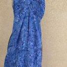 Nomadic Traders Blue Purple Summer Dress Size M Smocked Sleeveless New $99.00