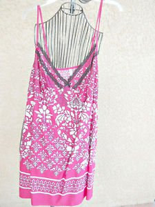 George Plus Size 2X Night Gown Fuchsia Pink White Floral Nightshirt New NWT