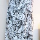 Croft & Barrow Dress XL Black White Zebra Print Tank Smocked Bodice New No Tags