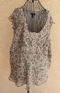 Rafaella Size 20W Gray Taupe Lined Tank Top Sleeveless Polyester New NWOT