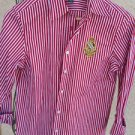 Lauren Ralph Lauren S Shirt Long Sleeves Red White Striped New Without Tags