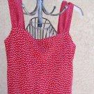 Red White Polka Dots Dress Size S Small Sleeveless Tank Jonathan Martin New NWOT