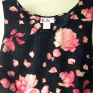 R & K Foral Dress Size 20W Tank Style Pink Black Polyester Excellent Used Condi