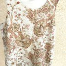 Size 2X Beige Rust Lace TankTop Sleeveless Lined Excellent Previously Used EUC