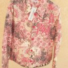 Rebecca Malone Jacket XL Large Floral Blue Pink Flowers Denim Jean Style NWT