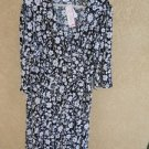 Motherhood Maternity 3X Dress Black White Floral Slinky Polyester New with Tags