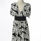 Maggy London 20W Long Dress Sleveless Double Bodice Black White Polyester New