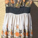 Chadwick's Sun Dress Size 10 Floral Sleeveless Gorgeous Orange Brown Flowers