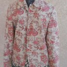 TALBOTS Blazer Size 4 Floral Lined Long Sleeves Beige Pink Green New NWOT