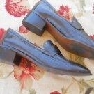 Ralph Lauren 11 B Loaers Shoes Genuine Leather Faux Croco Excellent Used EUC